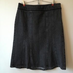 LOFT black denim skirt, size 10